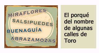 """""""Nombres peculiares de algunas calles de Toro"""""""