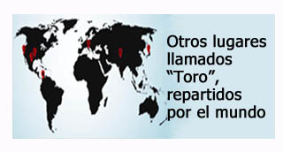 """""""Lugares llamados Toro repartidos por el mundo"""""""
