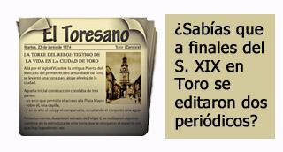 """""""Periódicos de Toro: el Toresano y el nuevo castellano"""""""