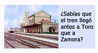 """""""Primera linea de tren a Toro """""""