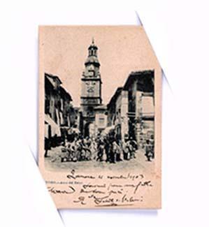 """Fotografias antiguas de Toro. La Torre del Reloj. Puerta del mercado"""