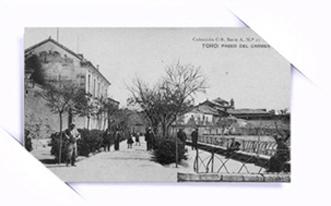 """""""Fotografias antiguas. Paseo del Carmen en Toro. Zamora. Castilla y Leon"""""""