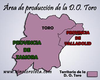 """""""Área de producción de la Denominación de Origen Toro"""""""