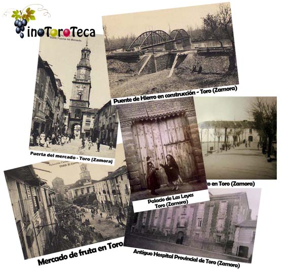 collage de fotograf205as antiguas de toro zamora