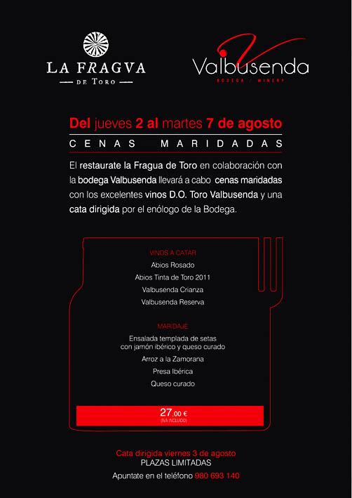 """""""CENAS MARIDADAS EN LA D. O. TORO"""""""