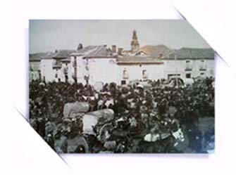"""""""Fotografias antiguas: mercado de ganado en Toro. Zamora. Castilla y Leon"""""""